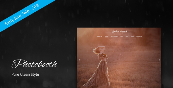 Photobooth Preview Wordpress Theme - Rating, Reviews, Preview, Demo & Download