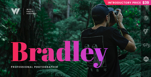 Photography Bradley Preview Wordpress Theme - Rating, Reviews, Preview, Demo & Download
