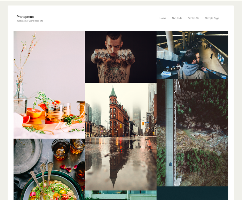 Photopress Preview Wordpress Theme - Rating, Reviews, Preview, Demo & Download