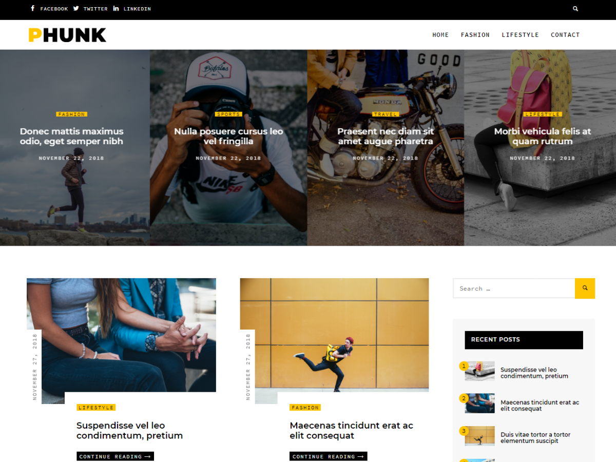 Phunk Preview Wordpress Theme - Rating, Reviews, Preview, Demo & Download