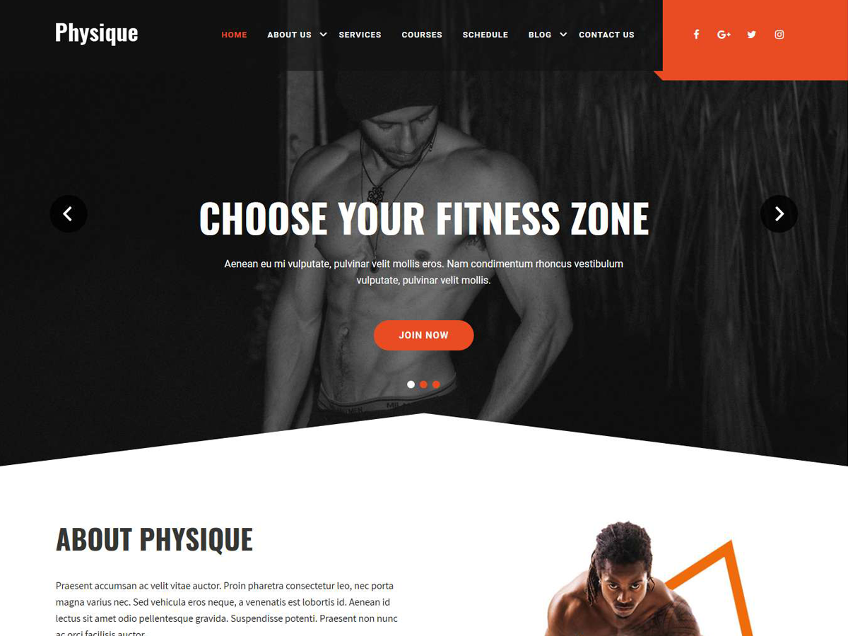 Physique Preview Wordpress Theme - Rating, Reviews, Preview, Demo & Download