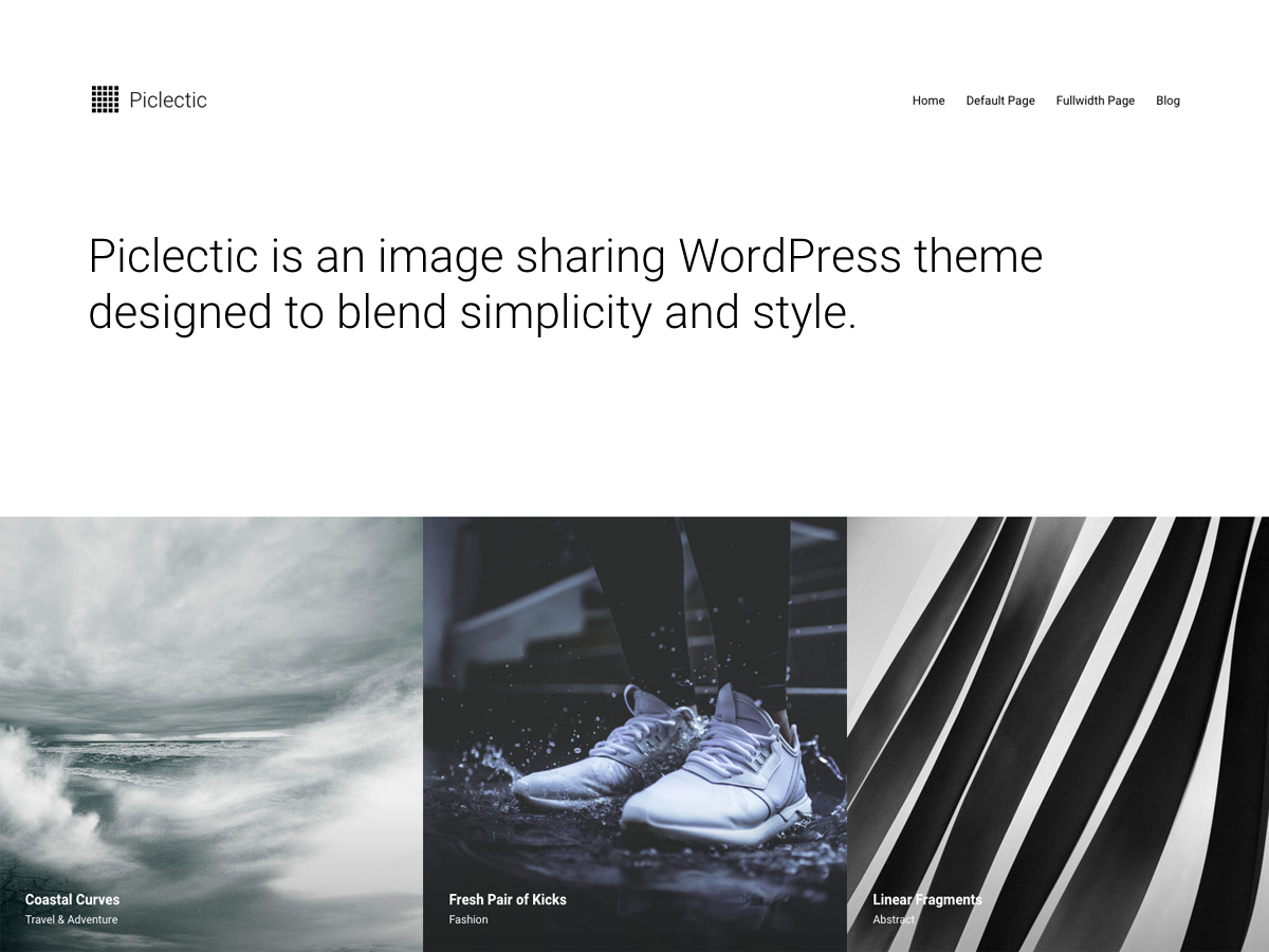 Piclectic Preview Wordpress Theme - Rating, Reviews, Preview, Demo & Download