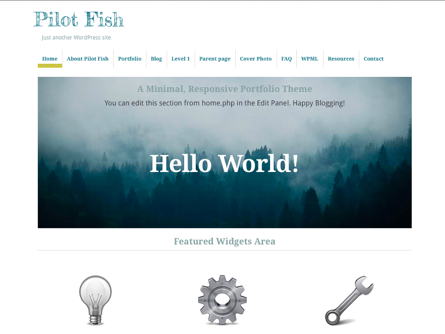 Pilot Fish Preview Wordpress Theme - Rating, Reviews, Preview, Demo & Download