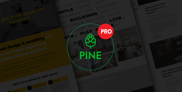 Pine PRO Preview Wordpress Theme - Rating, Reviews, Preview, Demo & Download