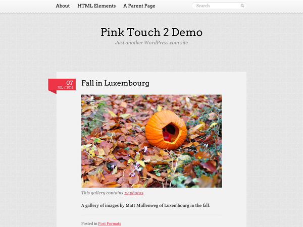 Pink Touch Preview Wordpress Theme - Rating, Reviews, Preview, Demo & Download