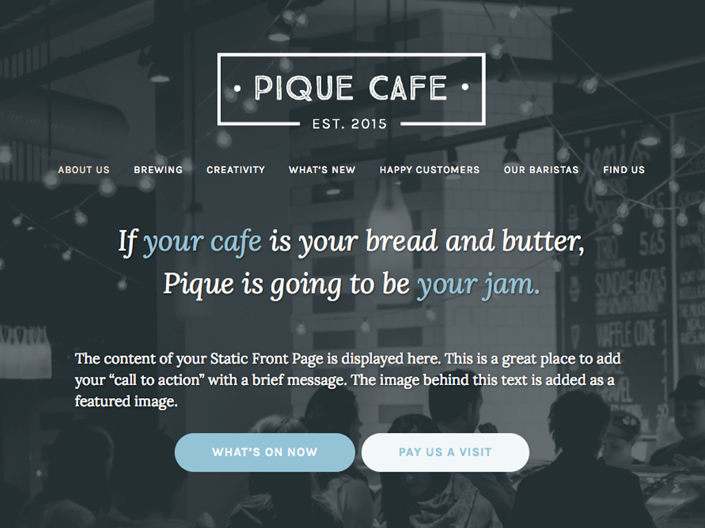 Pique Preview Wordpress Theme - Rating, Reviews, Preview, Demo & Download