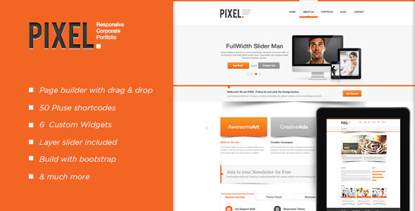 Pixel Responsive Preview Wordpress Theme - Rating, Reviews, Preview, Demo & Download