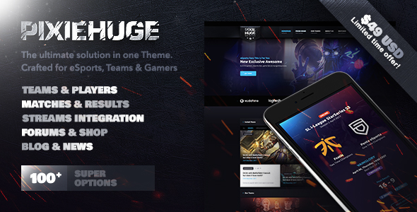 PixieHuge Preview Wordpress Theme - Rating, Reviews, Preview, Demo & Download