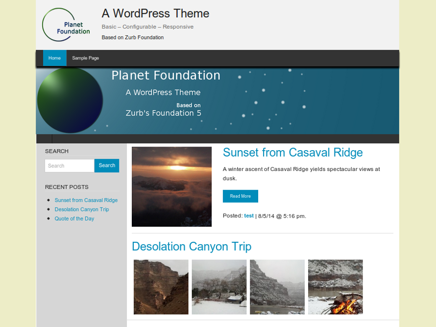 Planet Foundation Preview Wordpress Theme - Rating, Reviews, Preview, Demo & Download