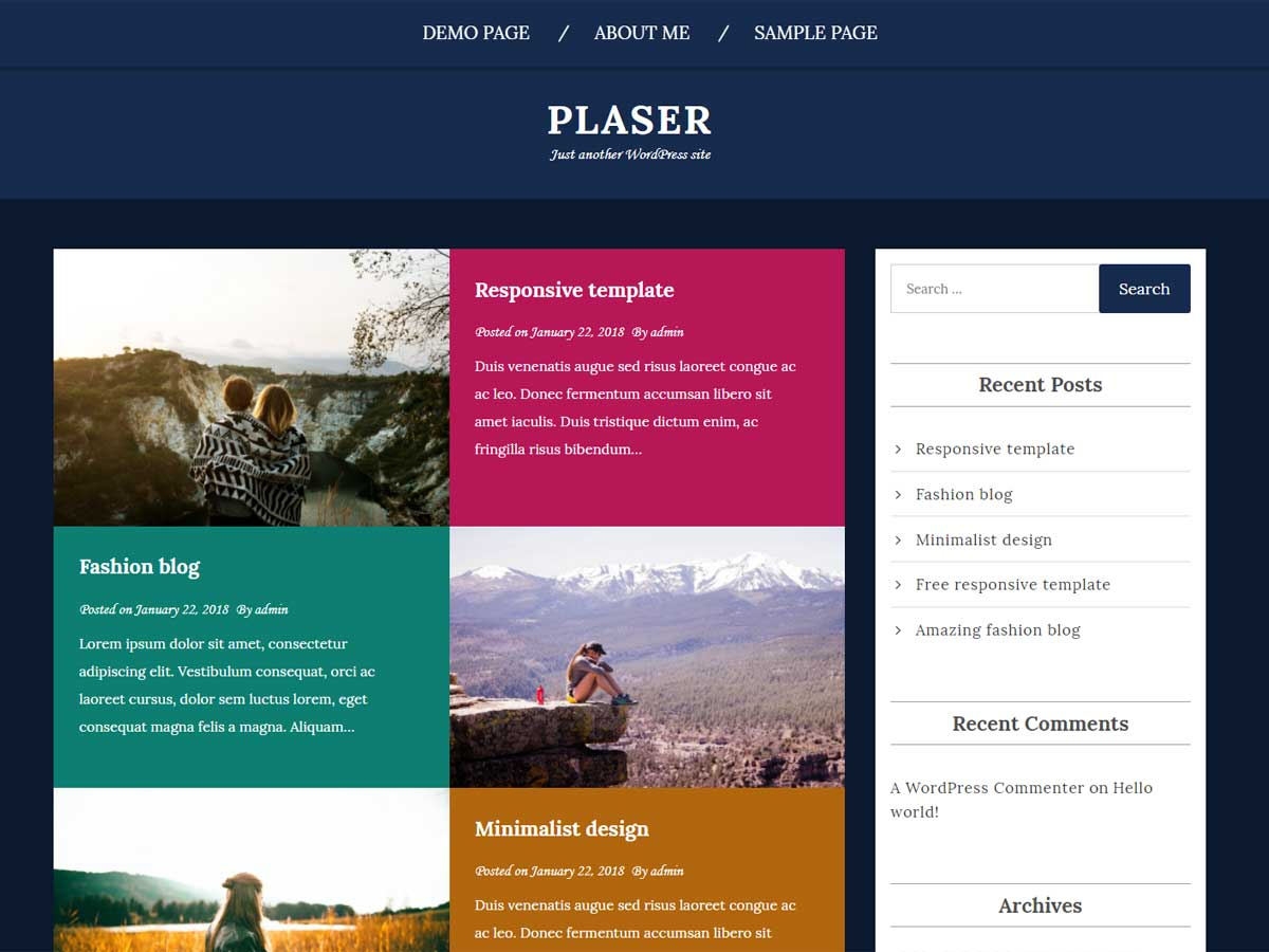 Plaser Preview Wordpress Theme - Rating, Reviews, Preview, Demo & Download