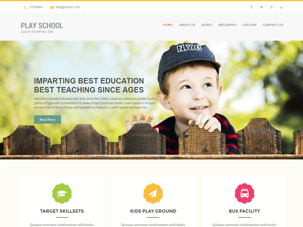 Play School Preview Wordpress Theme - Rating, Reviews, Preview, Demo & Download