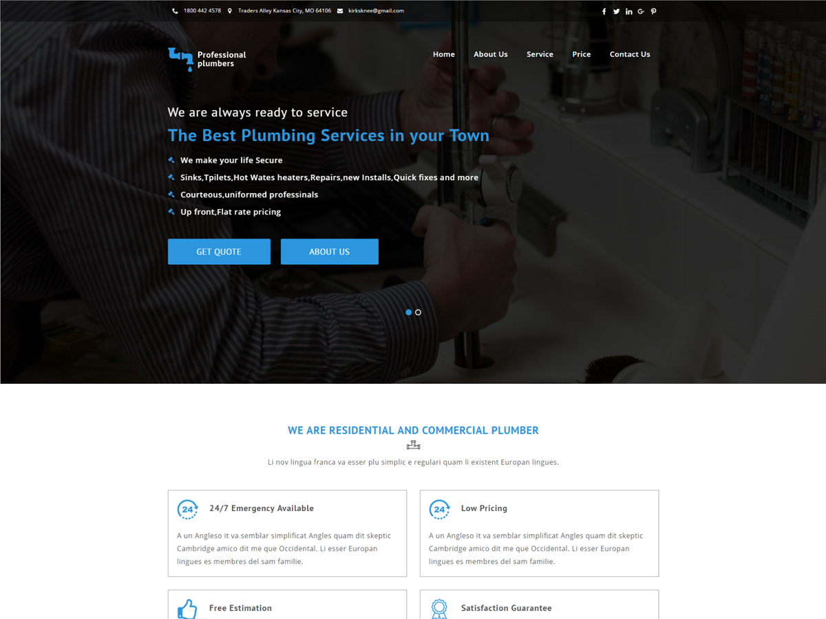 Plumbers Preview Wordpress Theme - Rating, Reviews, Preview, Demo & Download