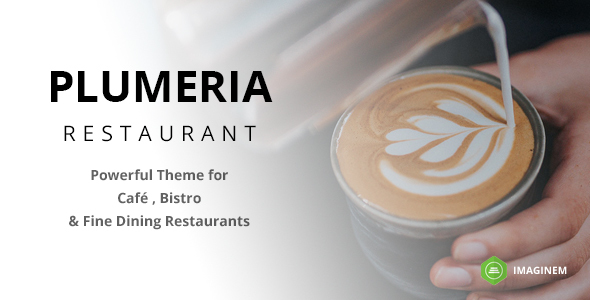 Plumeria Restaurant Preview Wordpress Theme - Rating, Reviews, Preview, Demo & Download