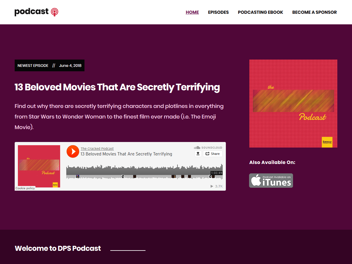 Podcast Preview Wordpress Theme - Rating, Reviews, Preview, Demo & Download