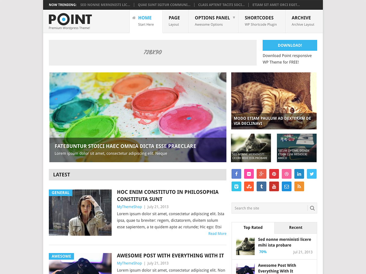 Point Preview Wordpress Theme - Rating, Reviews, Preview, Demo & Download