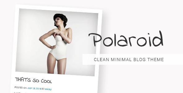 Polaroid Preview Wordpress Theme - Rating, Reviews, Preview, Demo & Download