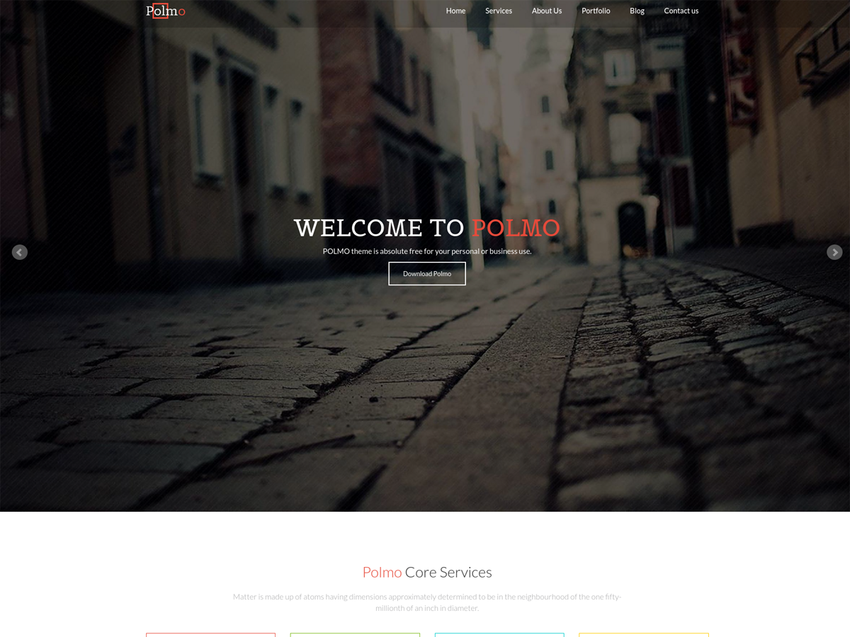 Polmo Lite Preview Wordpress Theme - Rating, Reviews, Preview, Demo & Download