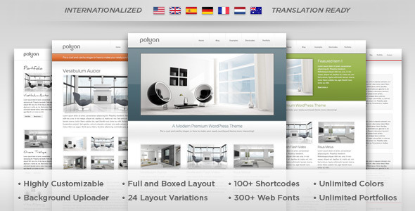 Polyon Preview Wordpress Theme - Rating, Reviews, Preview, Demo & Download