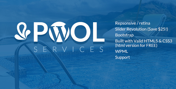 Pool Services Preview Wordpress Theme - Rating, Reviews, Preview, Demo & Download