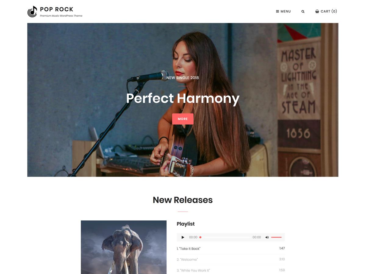 Pop Rock Preview Wordpress Theme - Rating, Reviews, Preview, Demo & Download