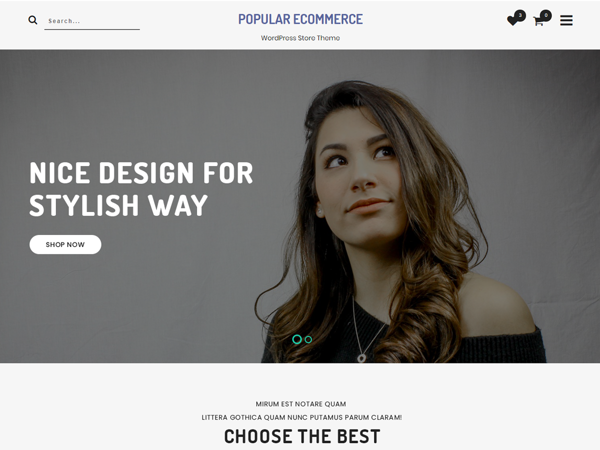 Popular ECommerce Preview Wordpress Theme - Rating, Reviews, Preview, Demo & Download