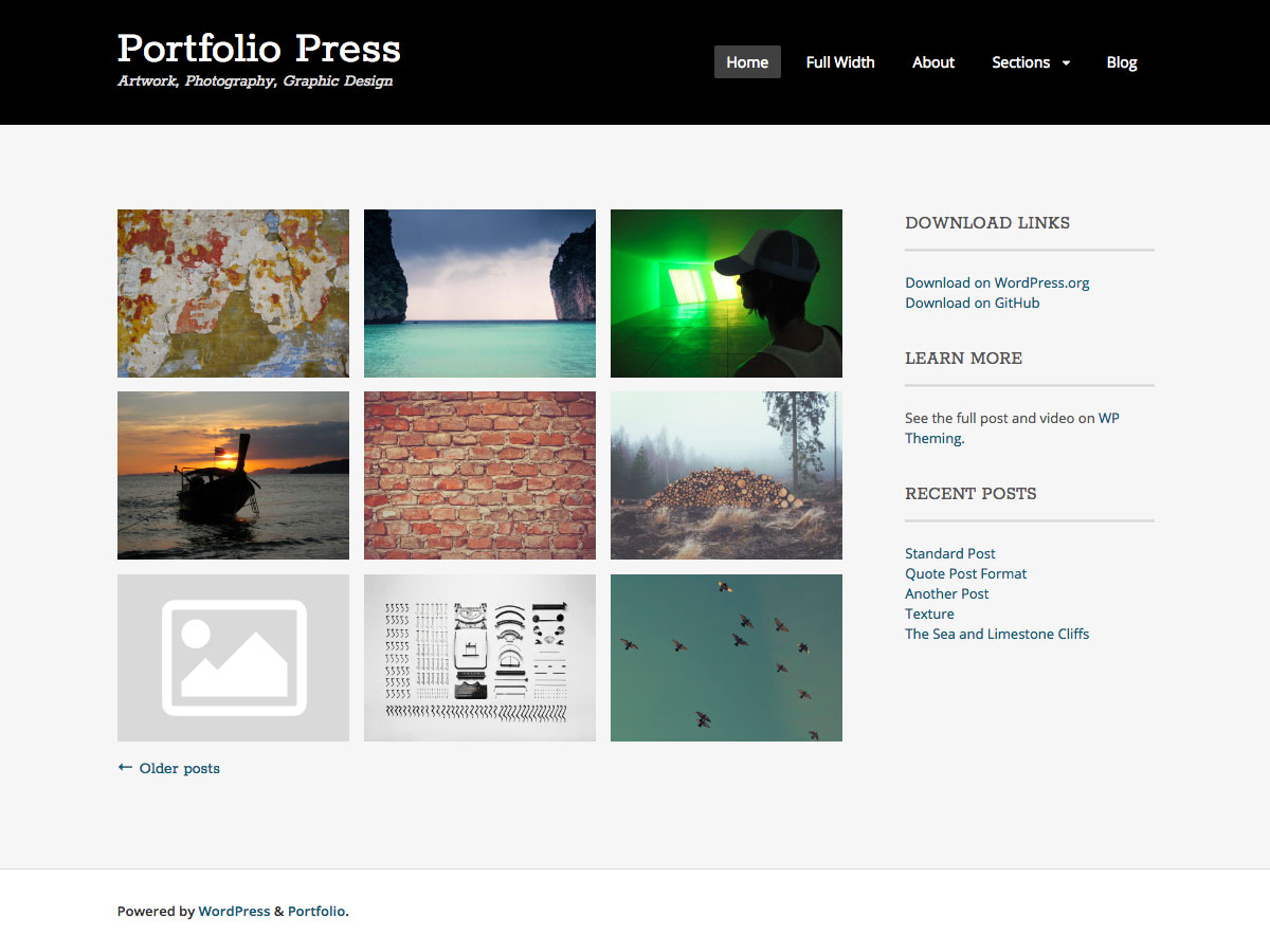 Portfolio Press Preview Wordpress Theme - Rating, Reviews, Preview, Demo & Download