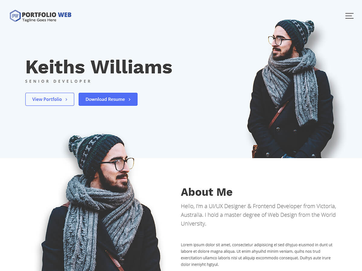 Portfolio Web Preview Wordpress Theme - Rating, Reviews, Preview, Demo & Download
