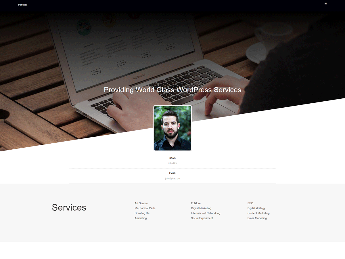 Portfolioo Preview Wordpress Theme - Rating, Reviews, Preview, Demo & Download