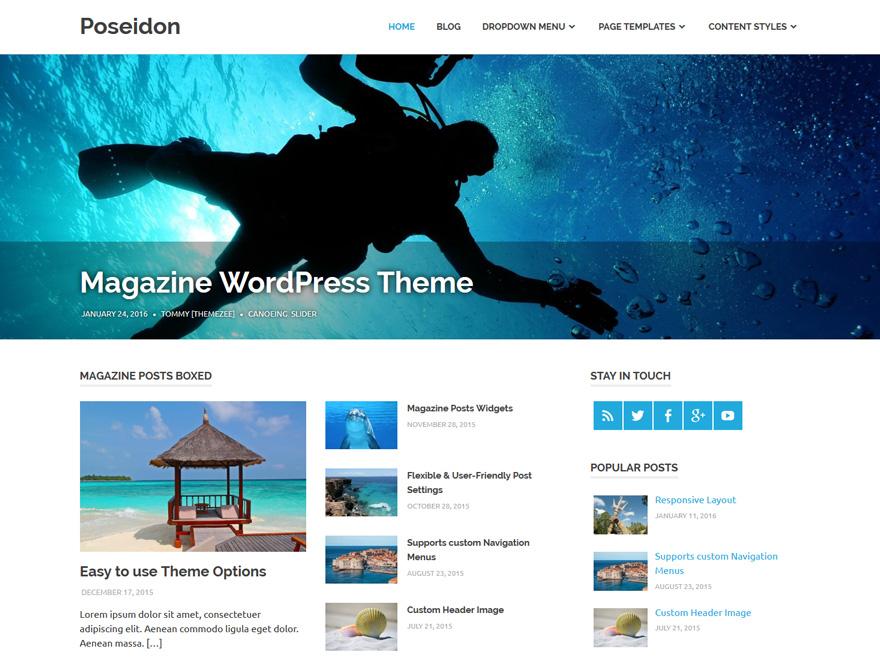Poseidon Preview Wordpress Theme - Rating, Reviews, Preview, Demo & Download