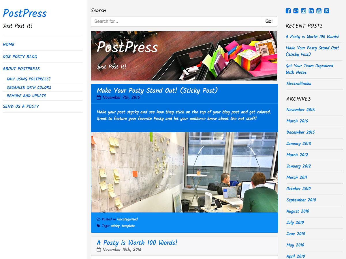 PostPress Preview Wordpress Theme - Rating, Reviews, Preview, Demo & Download
