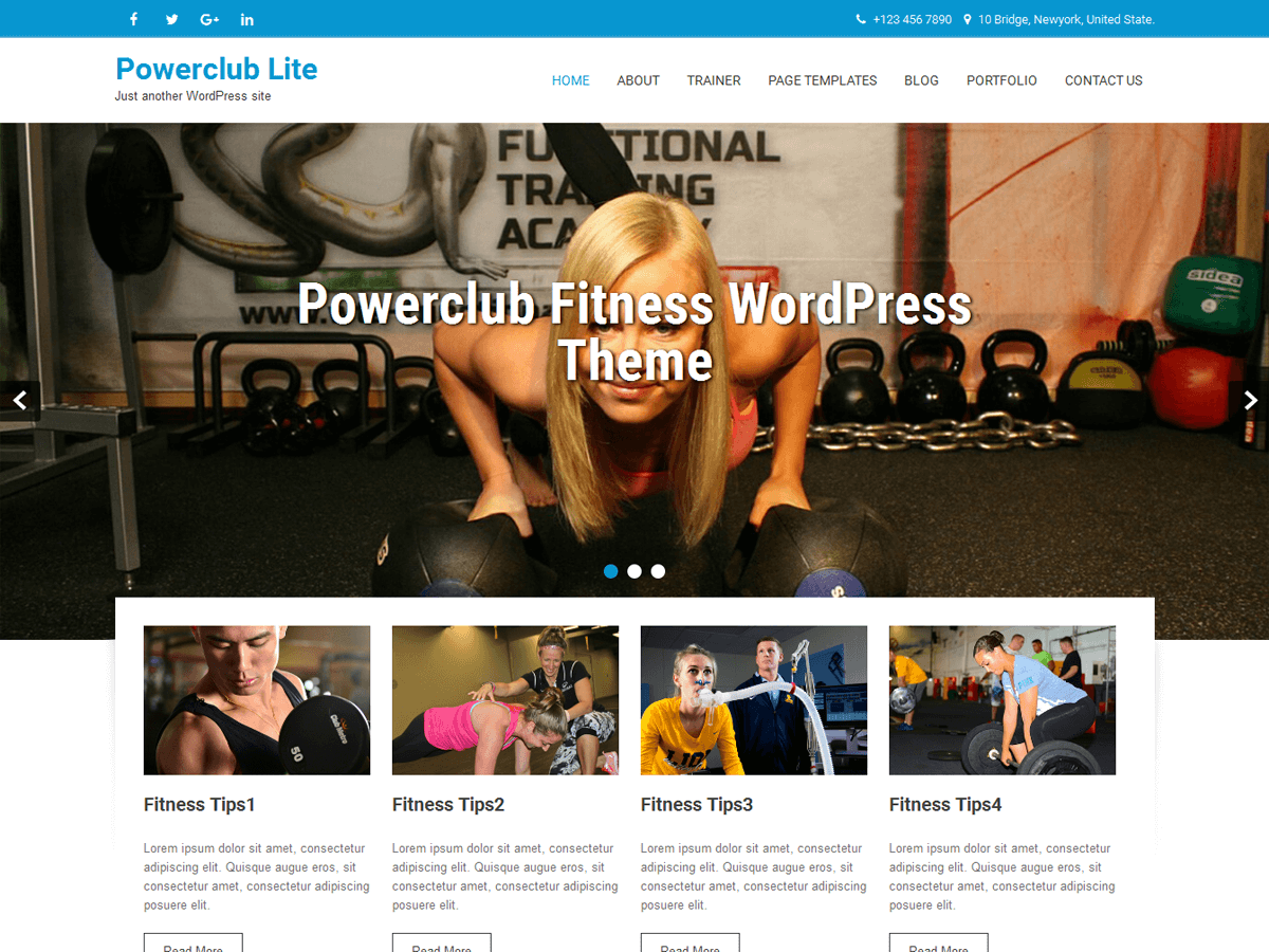 Powerclub Lite Preview Wordpress Theme - Rating, Reviews, Preview, Demo & Download