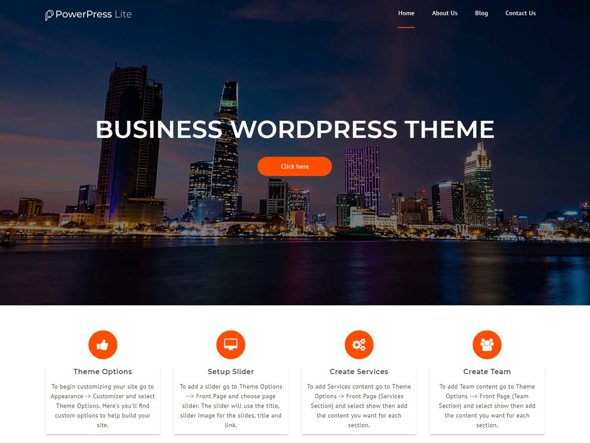PowerPress Lite Preview Wordpress Theme - Rating, Reviews, Preview, Demo & Download