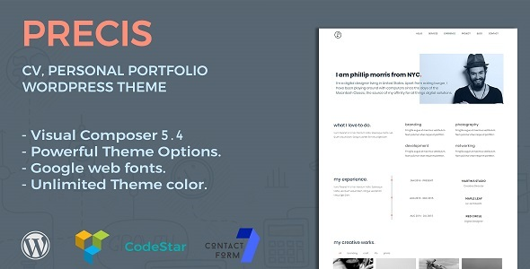 Precis Preview Wordpress Theme - Rating, Reviews, Preview, Demo & Download
