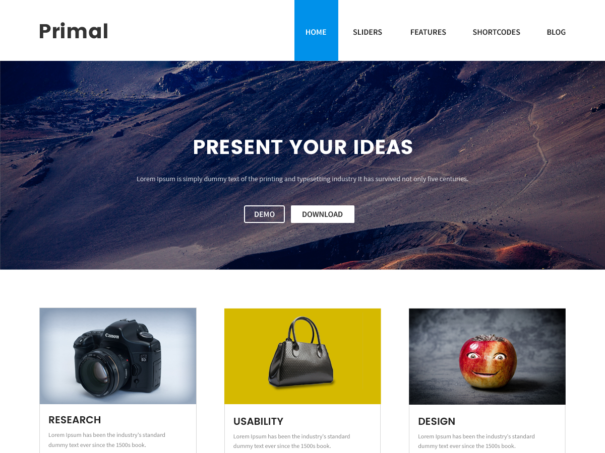 Primal Preview Wordpress Theme - Rating, Reviews, Preview, Demo & Download