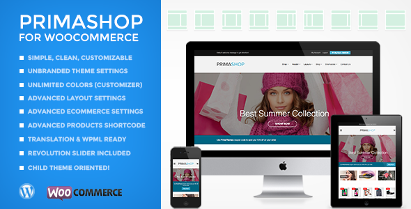 PrimaShop Preview Wordpress Theme - Rating, Reviews, Preview, Demo & Download