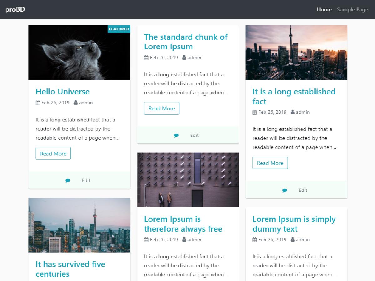 ProBD Preview Wordpress Theme - Rating, Reviews, Preview, Demo & Download