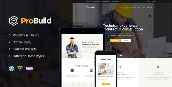 ProBuild Preview Wordpress Theme - Rating, Reviews, Preview, Demo & Download