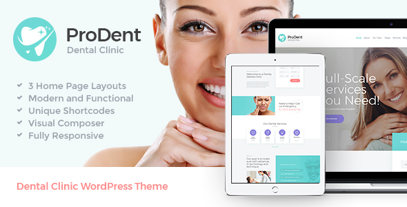 ProDent Preview Wordpress Theme - Rating, Reviews, Preview, Demo & Download