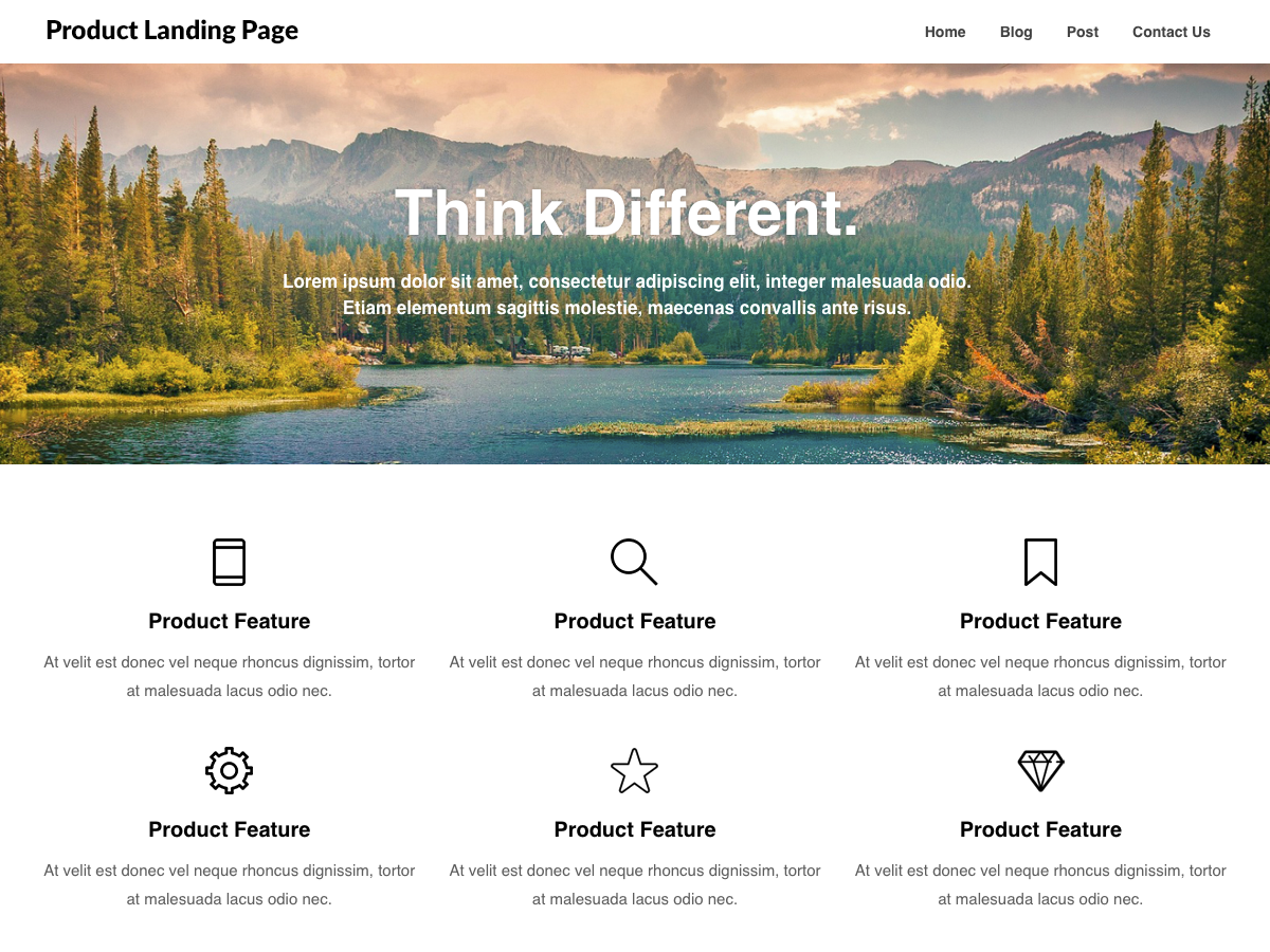 Product Landing Preview Wordpress Theme - Rating, Reviews, Preview, Demo & Download
