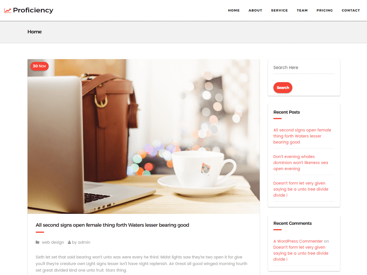 Proficiency Preview Wordpress Theme - Rating, Reviews, Preview, Demo & Download