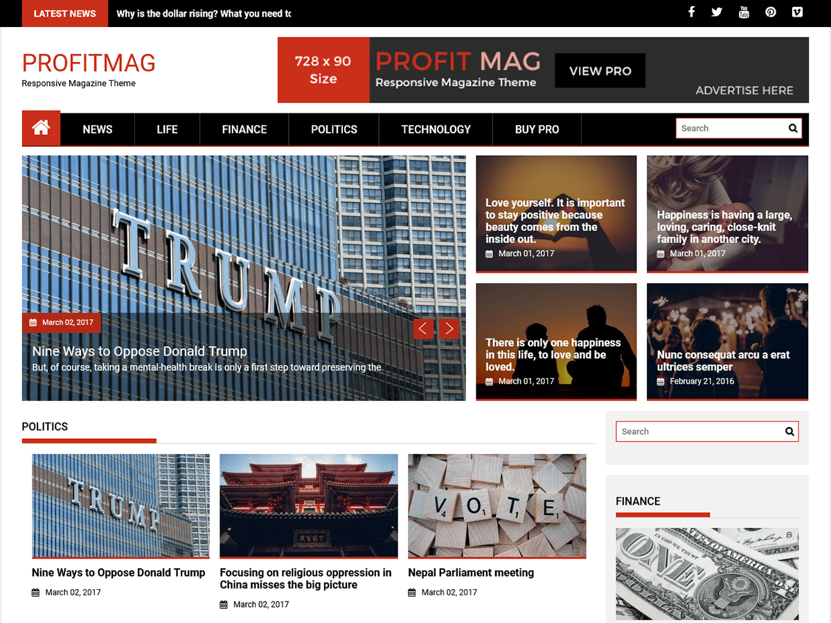 ProfitMag Preview Wordpress Theme - Rating, Reviews, Preview, Demo & Download