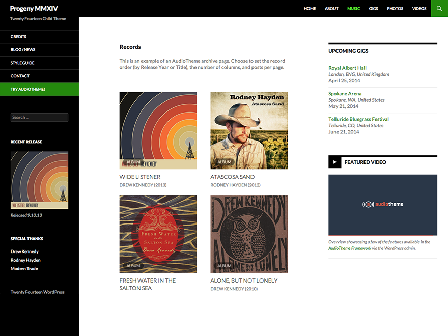 Progeny MMXIV Preview Wordpress Theme - Rating, Reviews, Preview, Demo & Download