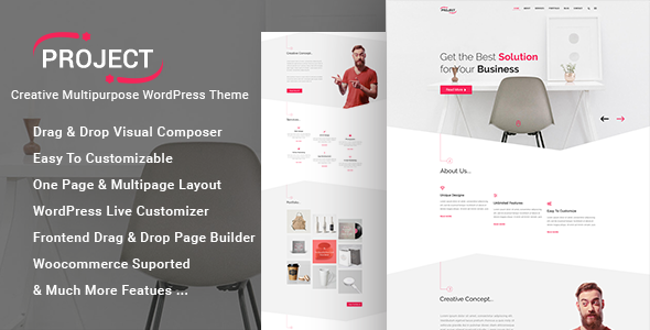 Project Preview Wordpress Theme - Rating, Reviews, Preview, Demo & Download