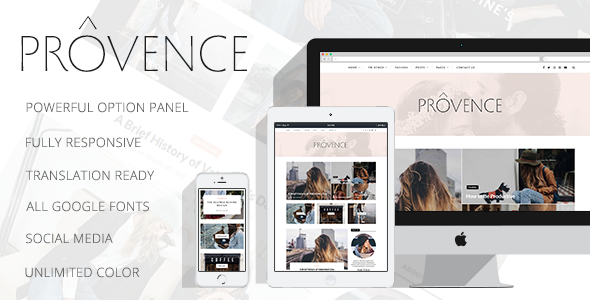 Provence Preview Wordpress Theme - Rating, Reviews, Preview, Demo & Download
