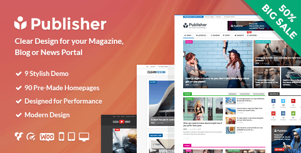 Publisher Wordpress Theme Rating Reviews Preview Demo Download