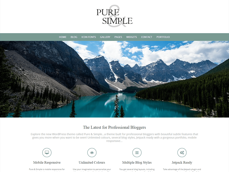 Pure Preview Wordpress Theme - Rating, Reviews, Preview, Demo & Download