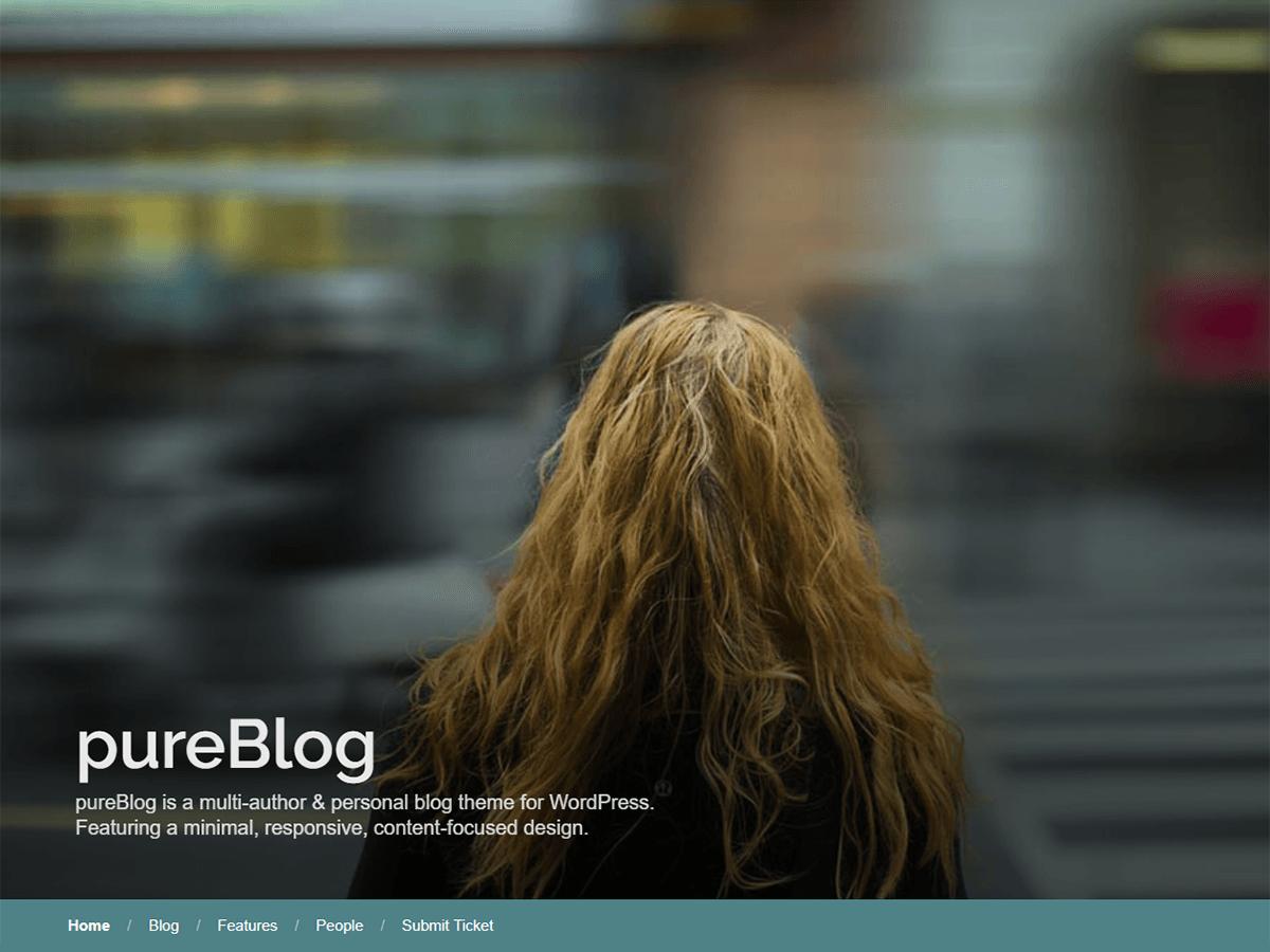 PureBlog Preview Wordpress Theme - Rating, Reviews, Preview, Demo & Download