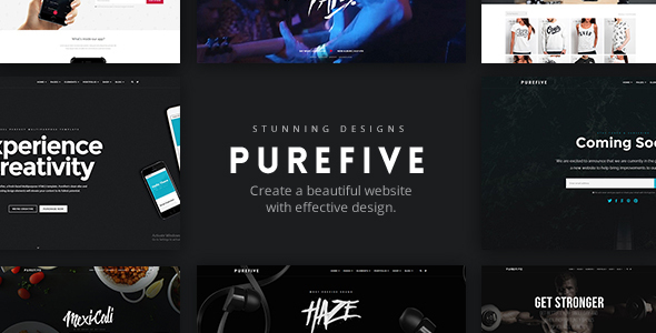 Purefive Preview Wordpress Theme - Rating, Reviews, Preview, Demo & Download