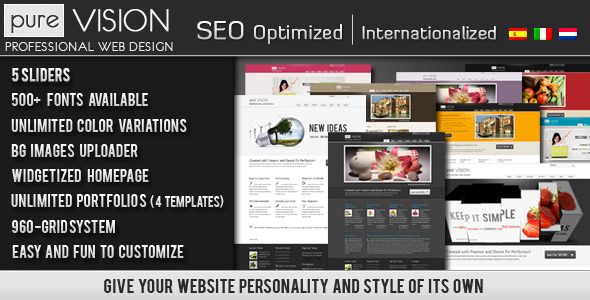 PureVISION WordPress Preview Wordpress Theme - Rating, Reviews, Preview, Demo & Download