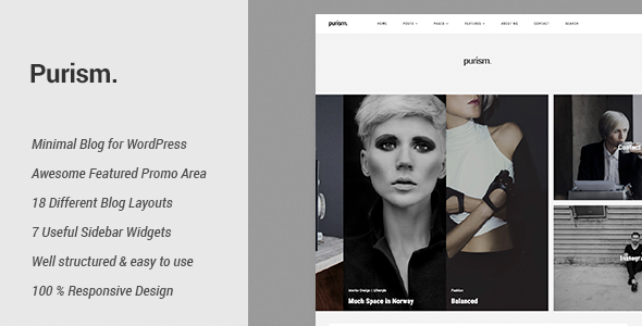 Purism Preview Wordpress Theme - Rating, Reviews, Preview, Demo & Download